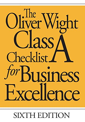 9780471741060: The Oliver Wight Class A Checklist For Business Excellence