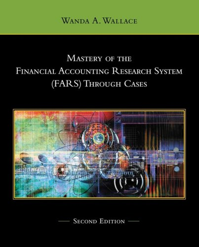 9780471741619: Mastery of the Financial Accounting Research System (FARS) Through Cases