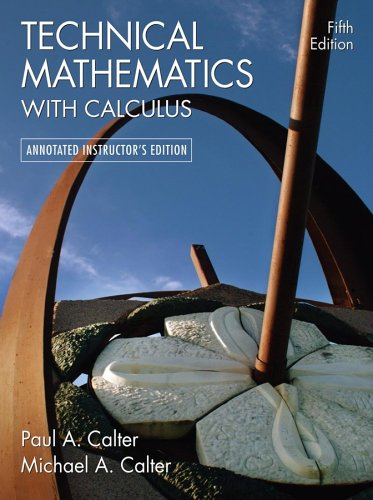 9780471744887: TECHNICAL MATHEMATICS WITH CALCULUS (ANNOTATED INSTRUCTORS'S EDTION)