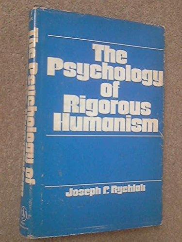 9780471747963: Psychology of Rigorous Humanism