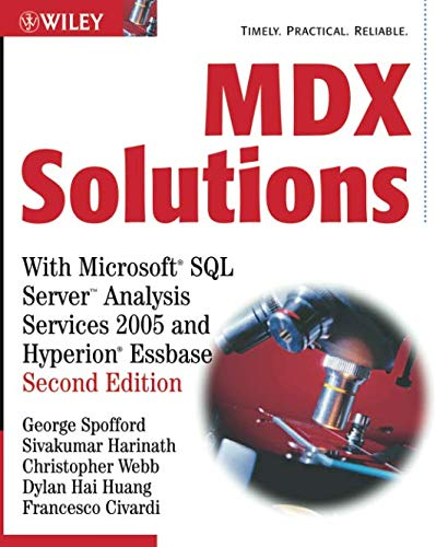9780471748083: MDX Solutions: With Microsoft SQL Server Analysis Services 2005 And Hyperion Essbase