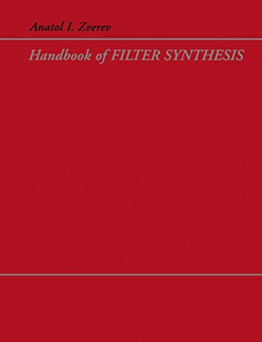 9780471749424: Handbook of Filter Synthesis