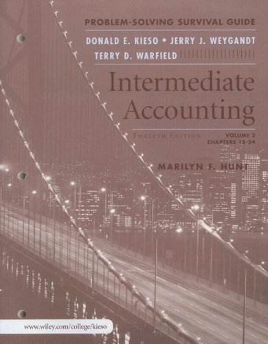 9780471749585 intermediate accounting volume 2 problem solving rh abebooks com Intermediate Accounting Solutions intermediate accounting problem solving survival guide