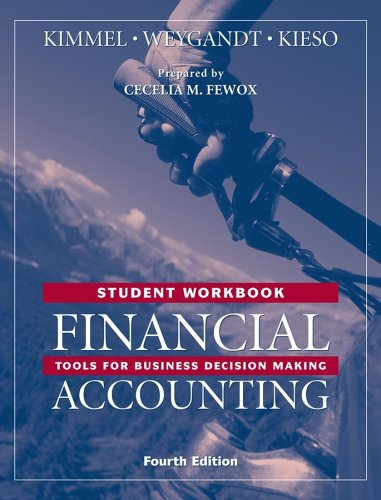 9780471750819: Student Workbook to Accompany Financial Accounting: Tools for Business Decision Making