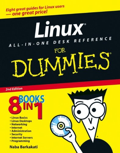 Linux All-in-One Desk Reference For Dummies (For Dummies (Computers)) 9780471752622 Eight minibooks spanning over 850 pages deliver the scoop on the latest versions of seven leading Linux distributions: Fedora Core, SUSE, Debian, Xandros, SimplyMEPIS, Knoppix, and Ubuntu The DVD includes the full Fedora Core and Knoppix distributions plus ISO images of the other distributions covered, saving hours of downloading time This new edition includes all-new coverage of the SimplyMEPIS and Ubuntdistributions, an added section on the Skype Internet telephone system, and expanded coverage of Firefox, SELinux, and OpenOffice.org applications The eight minibooks cover Linux basics, desktops, networking, the Internet, administration, security, Internet servers, and programming The Linux share of the operating system market is expected to grow from three to 11 percent in the next four years Note: CD-ROM/DVD and other supplementary materials are not included as part of eBook file.
