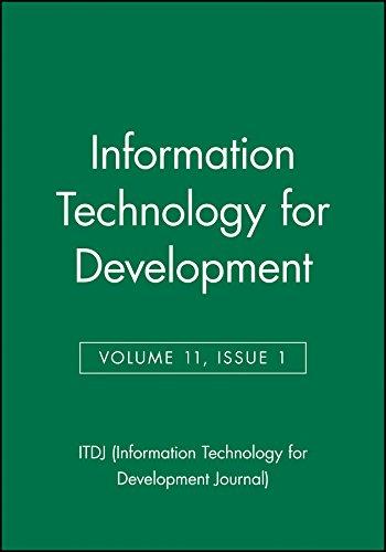 9780471754138: Information Technology for Development (ITDJ - single issue Information Technology for Development Journal) (Volume 11, Issue 1)