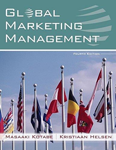 9780471755272: Global Marketing Management