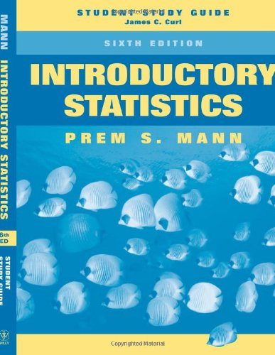 9780471755326: Introductory Statistics, Student Study Guide