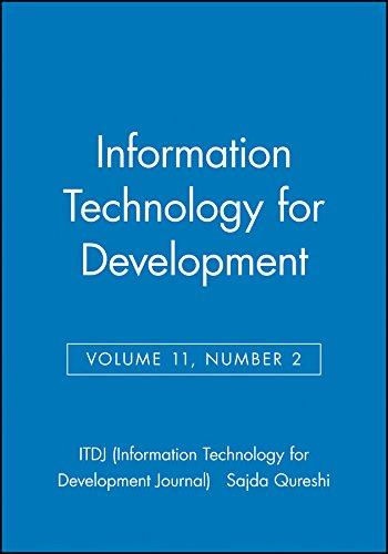 9780471755777: Information Technology for Development (ITDJ - single issue Information Technology for Development Journal) (Volume 11)