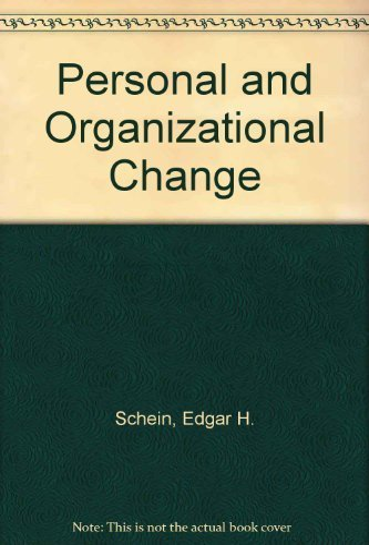 9780471758501: Personal and Organizational Change