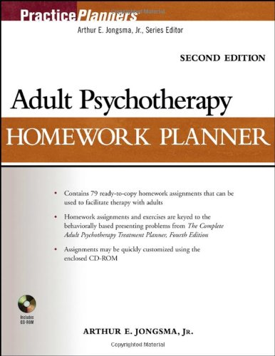 9780471763437: Adult Psychotherapy Homework Planner (PracticePlanners)