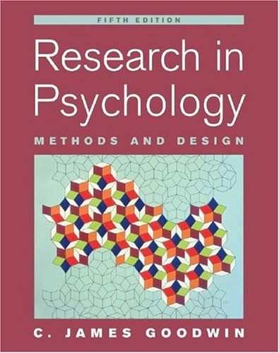 9780471763833: Research In Psychology: Methods and Design