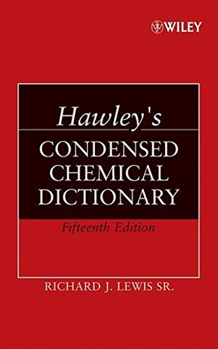 9780471768654: Hawley's Condensed Chemical Dictionary
