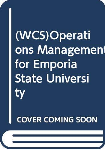 WCS)Operations Management for Emporia State University: Roberta (Robin) Russell,