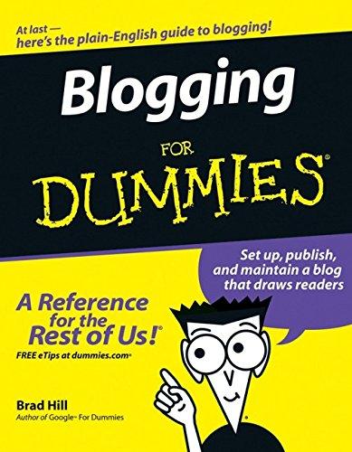 9780471770848: Blogging For Dummies