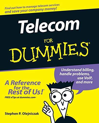 9780471770855: Telecom For Dummies