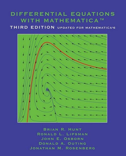 9780471773160: Differential Equations with Mathematica
