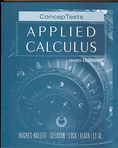 9780471775911: Applied Calculus: ConcepTests