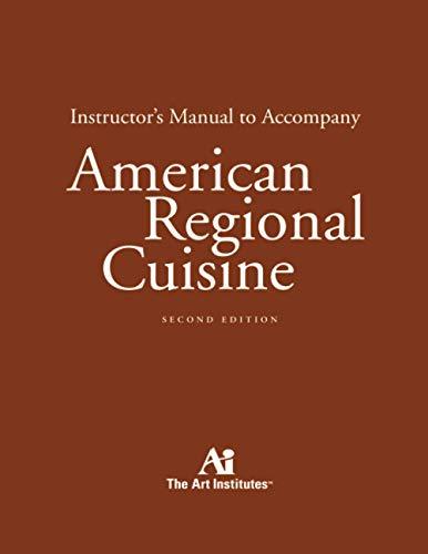 9780471781318: American Regional Cuisine: Instructor's Manual