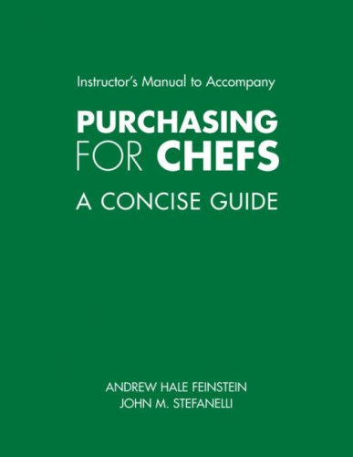9780471781981: Purchasing for Chefs: A Concise Guide