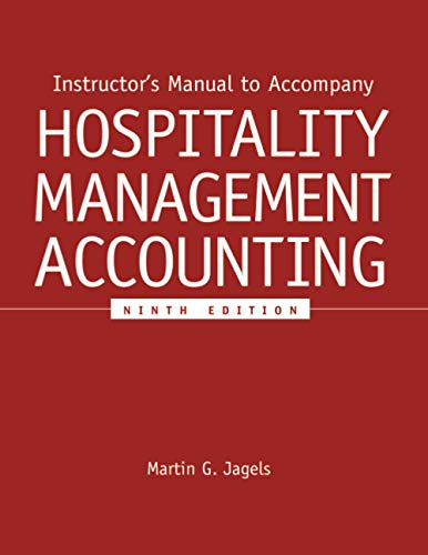 9780471781998: Hospitality Management Accounting: Instructor′s Manual