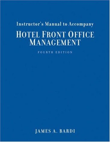 9780471782025: Instuctor's Manual to Accompany Hotel Front Office Management