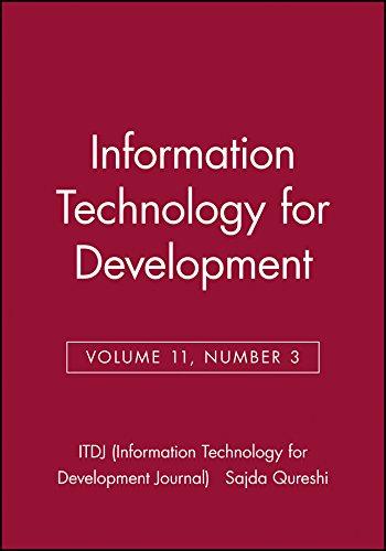 9780471784265: Information Technology for Development (ITDJ - single issue Information Technology for Development Journal) (Volume 11)