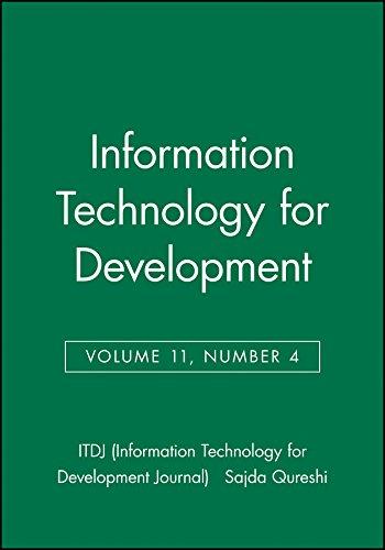 9780471784272: Information Technology for Development (ITDJ - single issue Information Technology for Development Journal) (Volume 11)