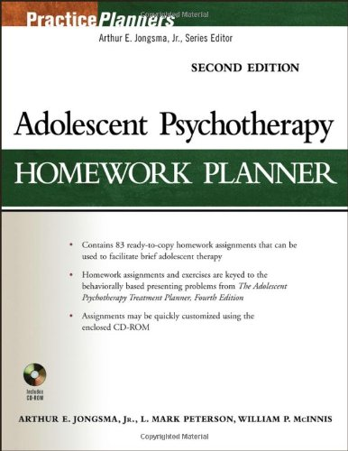 9780471785378: Adolescent Psychotherapy Homework Planner (PracticePlanners)