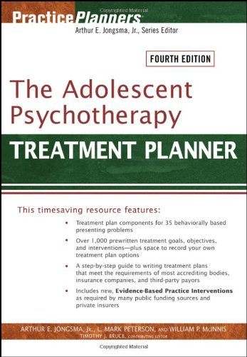 9780471785392: The Adolescent Psychotherapy Treatment Planner