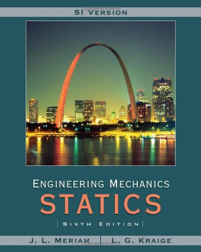 9780471787020: Engineering Mechanics, Vol. 1: Statics (SI Version)