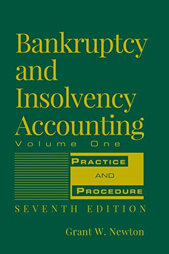 9780471787617: Bankruptcy and Insolvency Accounting, Volume 1: Practice and Procedure