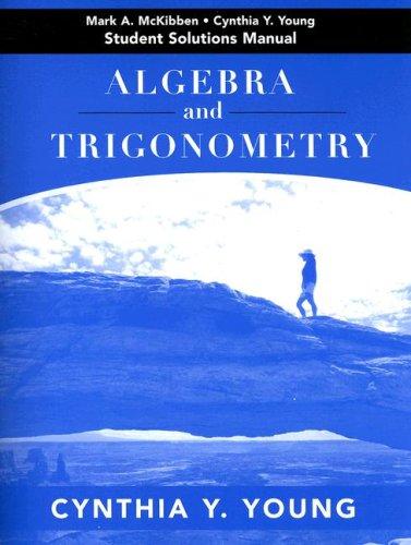 9780471788461: Algebra and Trigonometry, Student Solutions Manual