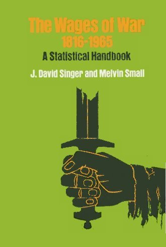 9780471793007: The Wages of War, 1816-1965: A Statistical Handbook