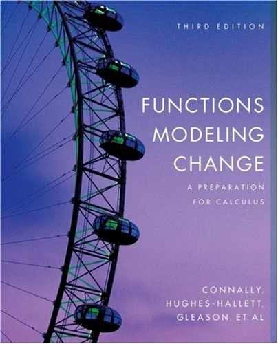 9780471793038: Functions Modeling Change: A Preparation for Calculus