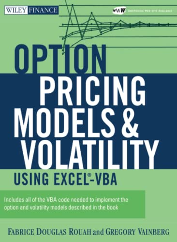 9780471794646: Option Pricing Models and Volatility Using Excel-vba
