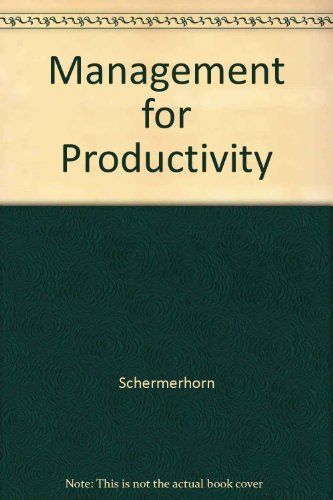 9780471797104: Management for Productivity