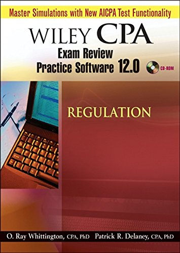 9780471797920: Wiley CPA Examination Review Practice Software 12.0 Regulation