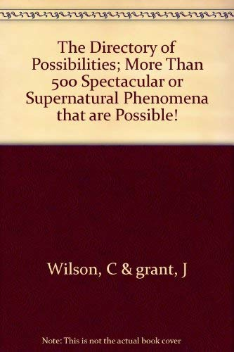 9780471799429: The Directory of Possibilities.