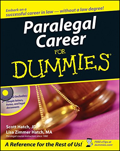 9780471799566: Paralegal Career For Dummies
