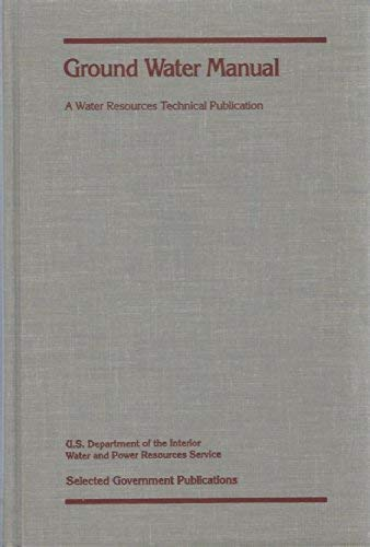 9780471800088: Ground Water Manual: A Water Resources Technical Publication