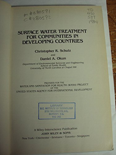 9780471802617: Surface Water Treatment for Communities in Developing Countries