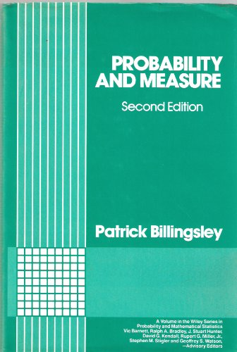 9780471804789: Probability and Measure (Wiley Series in Probability and Statistics)