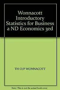 9780471805250: Wonnacott Introductory Statistics for Business a ND Economics 3ed