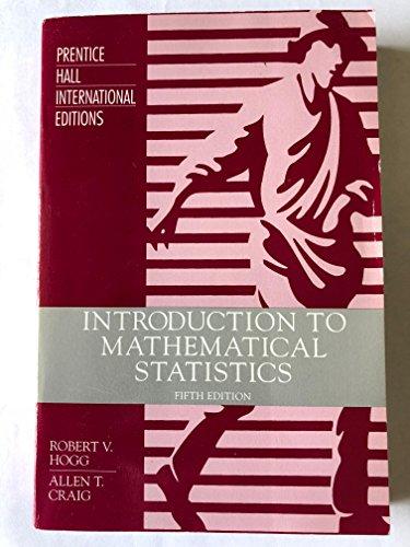 9780471805304: Introduction to Mathematical Statistics