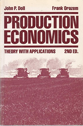 9780471805311: Production Economics: Theory with Applications