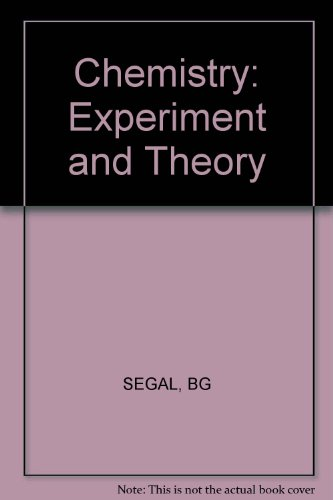 9780471808114: Chemistry: Experiment and Theory