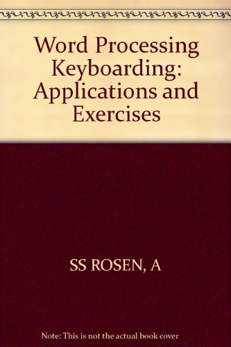 9780471808558: Word Processing Keyboarding: Applications and Exercises