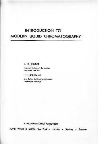 9780471810193: Introduction to Modern Liquid Chromatography