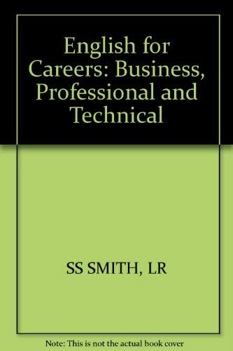 9780471810674: English for Careers: Business, Professional and Technical